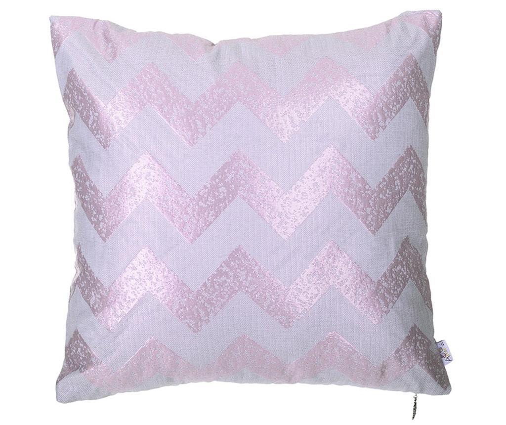 Fata de perna ZigZag Light Pink 43x43 cm