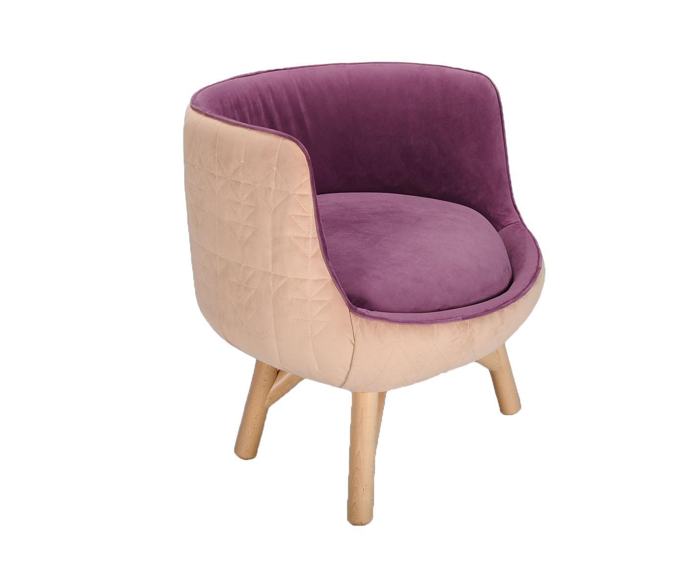Fotoliu Tarka Small Light Pink Purple - Mobila Dalin, Roz
