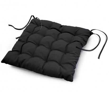 Jastuk za sjedalo Essentiel Black 40x40 cm
