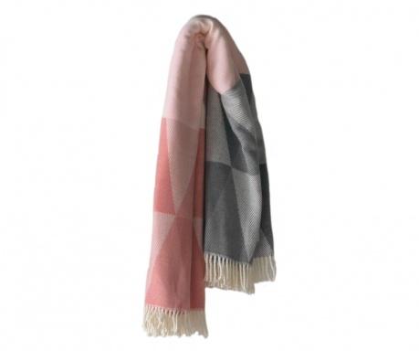 Priročna odeja Pisa Pink & Grey 140x180 cm