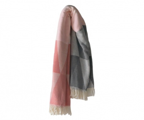 Pléd Pisa Pink & Grey 140x180 cm