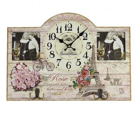 Ceas de perete cu 2 rame foto Rose