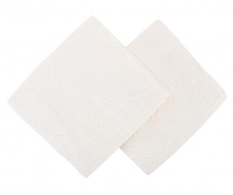 Set 2 prosoape de baie Papatya White 50x90 cm