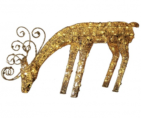 Zewnętrzna dekoracja świetlna Reindeer Gold