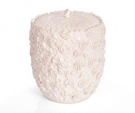 Romantic Pearl Powder Szemetes kosár fedővel 5 L