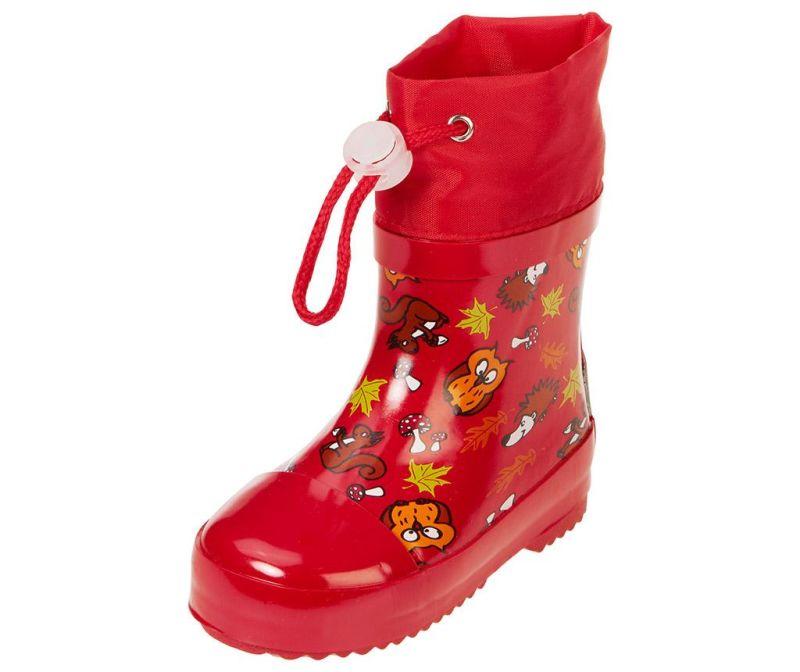 Cizme de ploaie copii Forest Animals Red 20