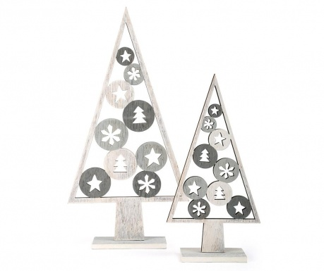 Set 2 decoratiuni Silver Tree
