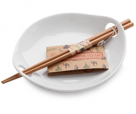 Set farfurie pentru orez si 2 betisoare chinezesti Dine In