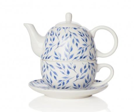 Zestaw czajniczek z filiżanką i talerzykiem Beatrice