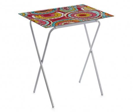 Skládací stolek s podnosem Mandala