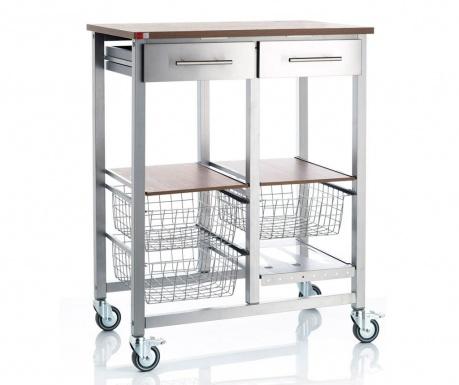 Kuchyňský vozík Onda Double Silver