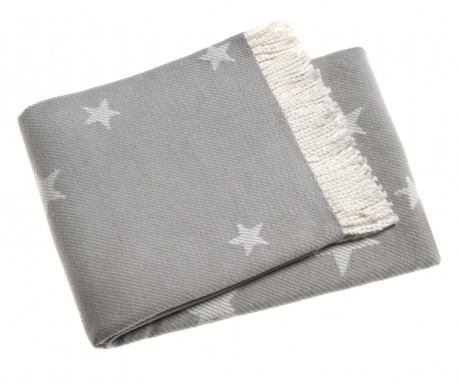 Pled Stars Light Grey 140x180 cm