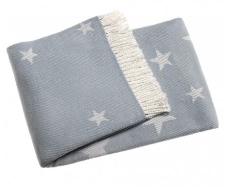 Stars Sky Blue Pléd 140x180 cm