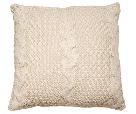 Perna decorativa Gliss Knitted Beige 45x45 cm