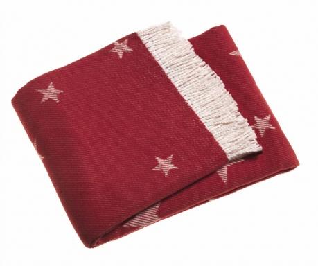 Priročna odeja Stars Red 140x180 cm