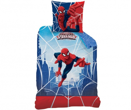 Set de pat Single Ranforce Spiderman Web
