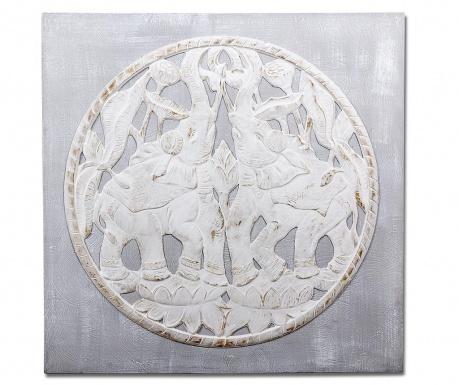 Tablou 3D Elephants 100x100 cm
