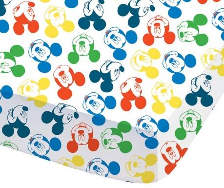 Cearsaf de pat cu elastic Ranforce Mickey Expression 90x190 cm