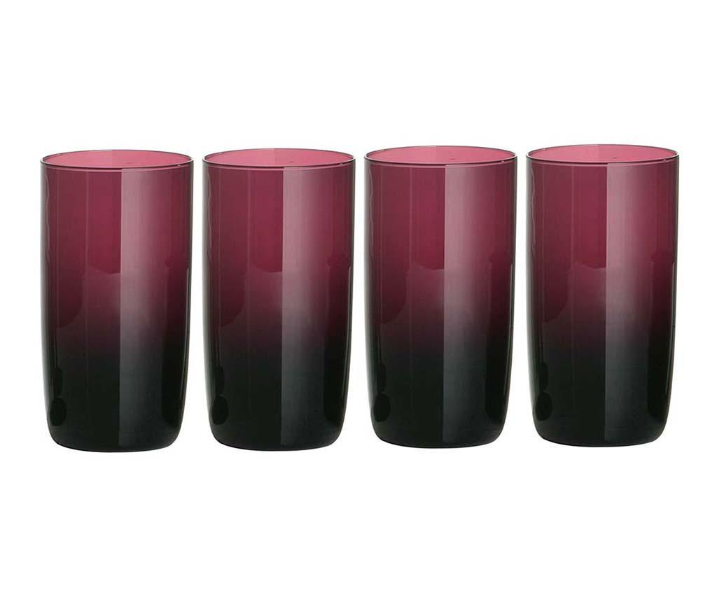 Set 4 pahare Ava Tall Purple 400 ml - Premier, Mov