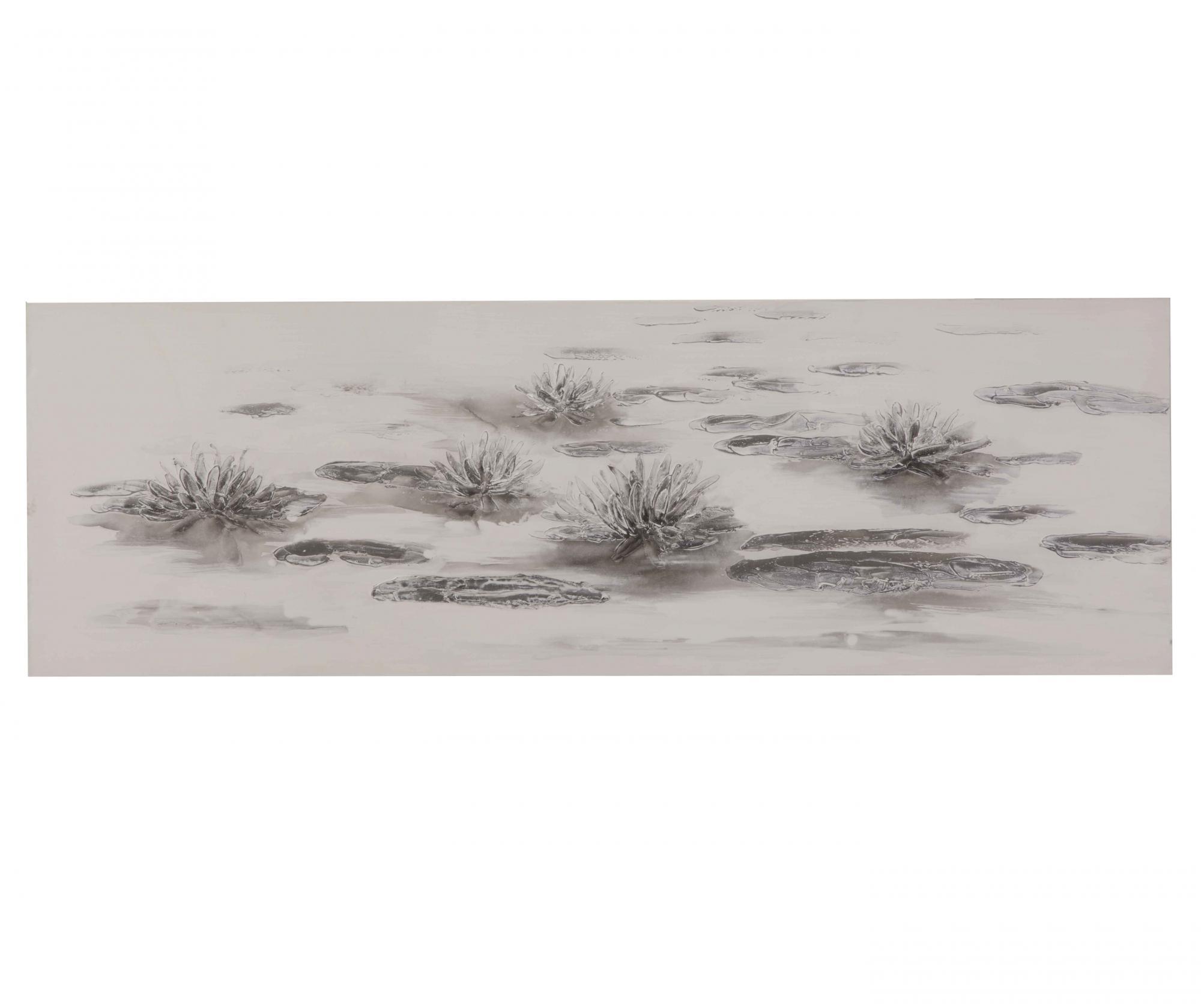 Tablou Ground 50x150 Cm - Mauro Ferretti, Gri & Argintiu