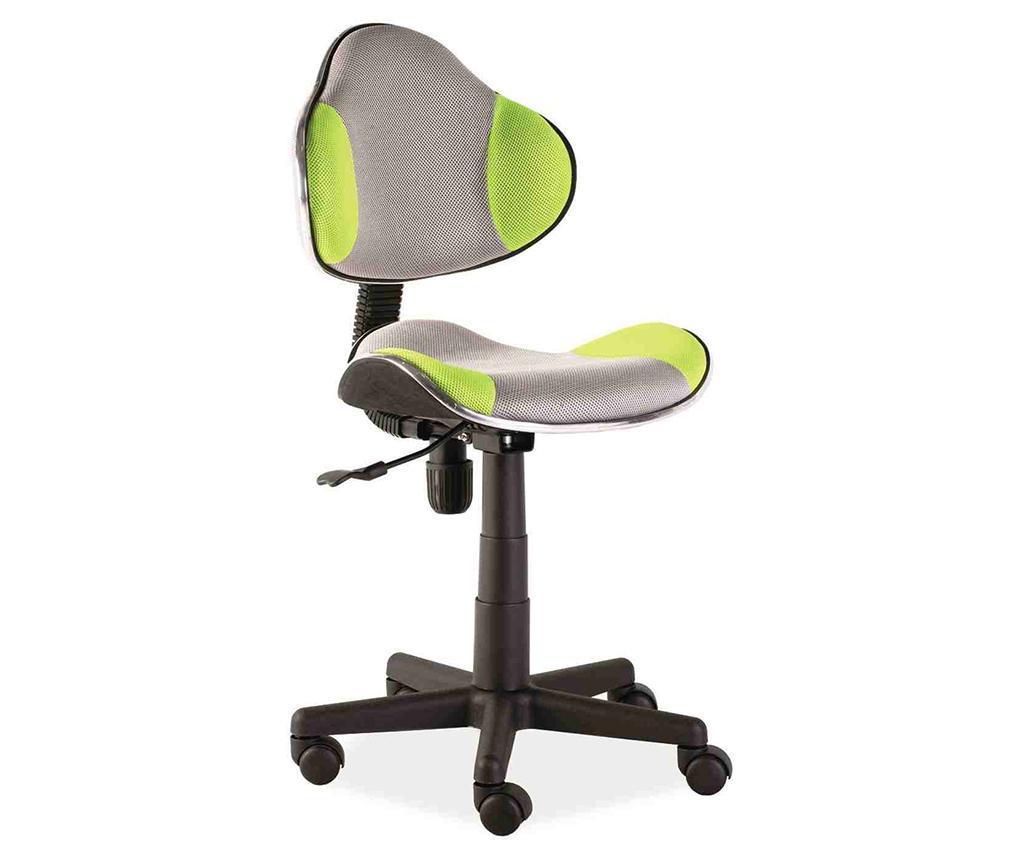 Scaun de birou pentru copii Vivid Grey Green - Signal, Gri & Argintiu,Verde