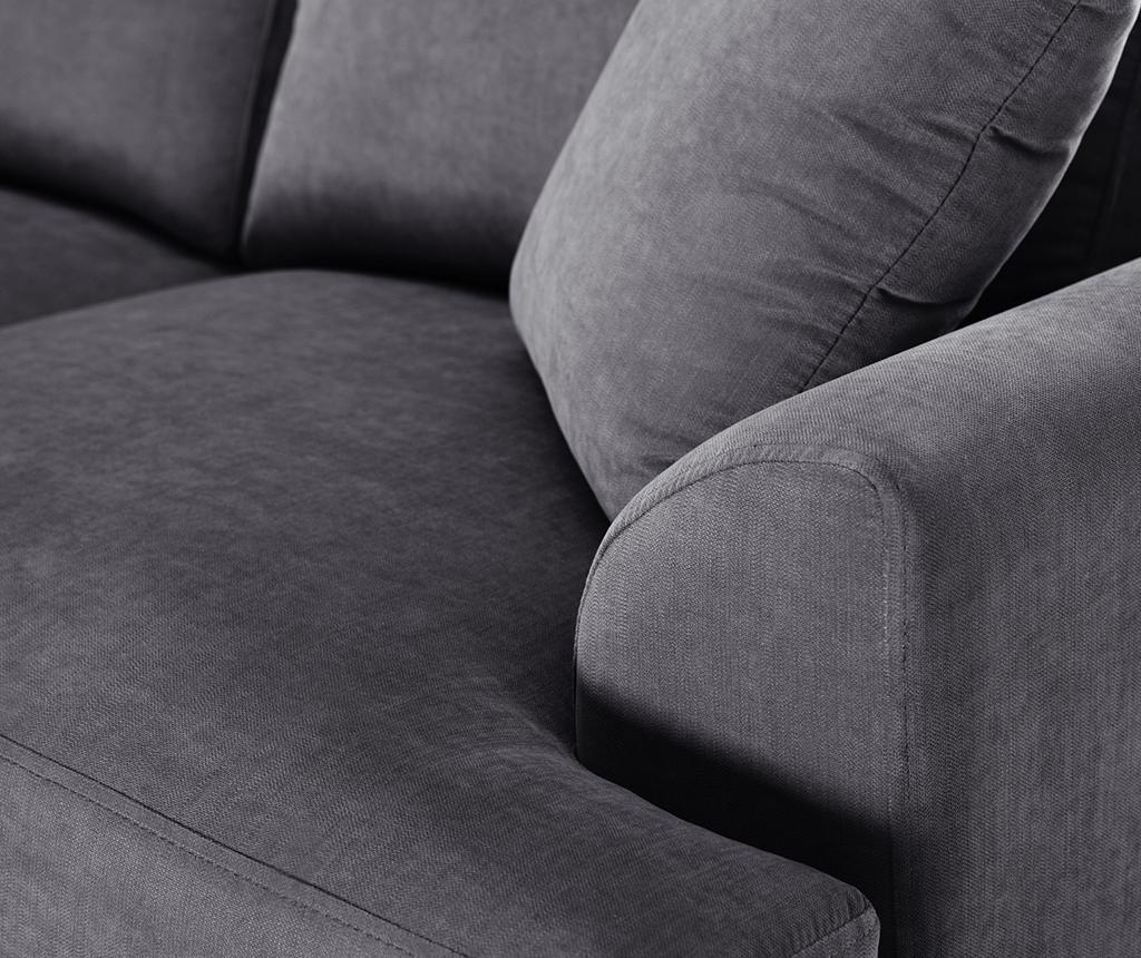 Canapea 3 locuri Irina Anthracite