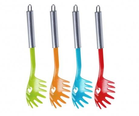 Set 4 linguri pentru spaghete Easy Multicolor