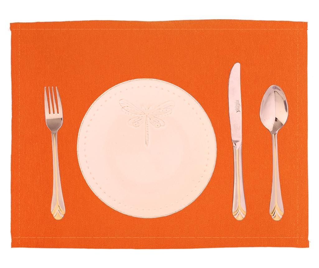 Set 2 suporturi farfurii Plane Orange 33x45 cm