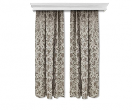 Set of 2 drapes Windy Brown 140x260 cm