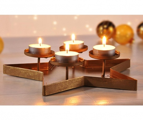 Decoratiune Advent Star Gold