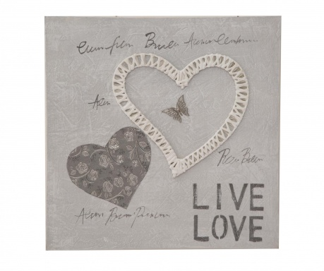 Tablou Creamy Heart 50x50 cm