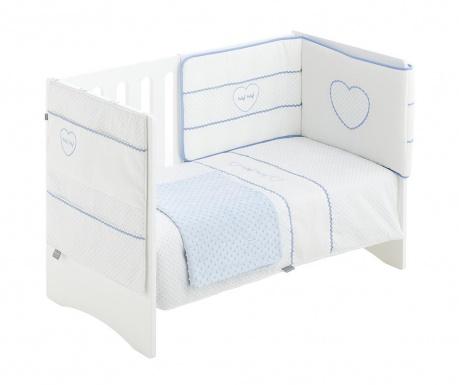 Czteroczęściowy zestaw do łóżeczka Heart