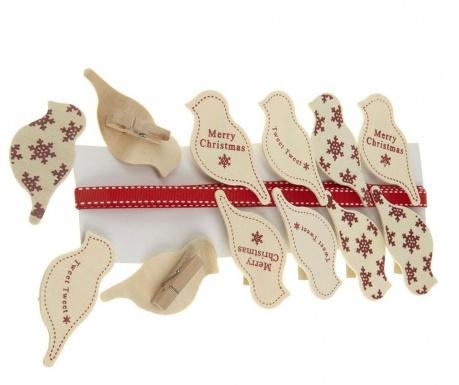Vrpca s 12 ukrasnih štipaljki Charming Birds