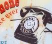 Decoratiune de perete Vintage Phone
