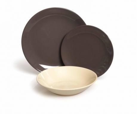 Servizio Grey & Cream 18 darabos Asztali szett