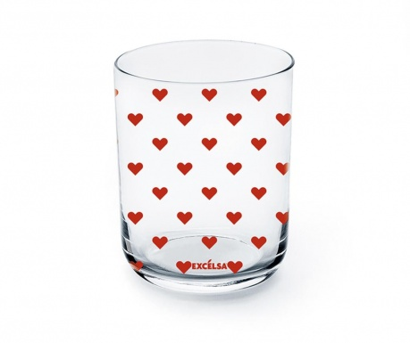 Pohár Red Hearts 350 ml