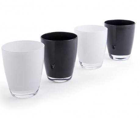 Sada 4 poháre Black & White 300 ml