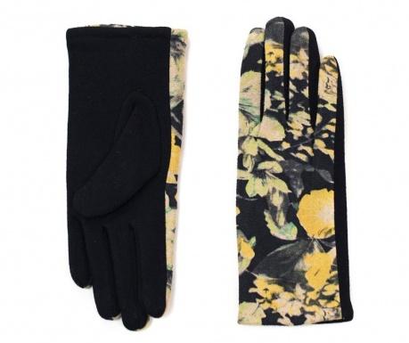 Floralis Black and Yellow Kesztyű