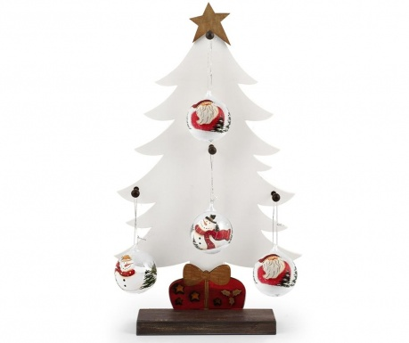 Decoratiune cu 4 globuri decorative White Tree