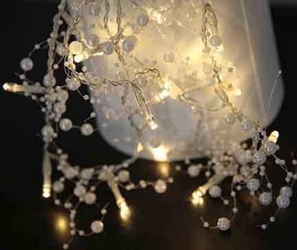 Светеща гирлянда Pearl Silver
