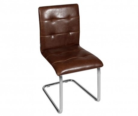 Set of 2 chairs Canberra Dark Brown