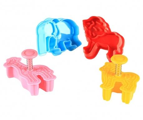 Aubrey Animals 4 db Sütemény kiszúró forma