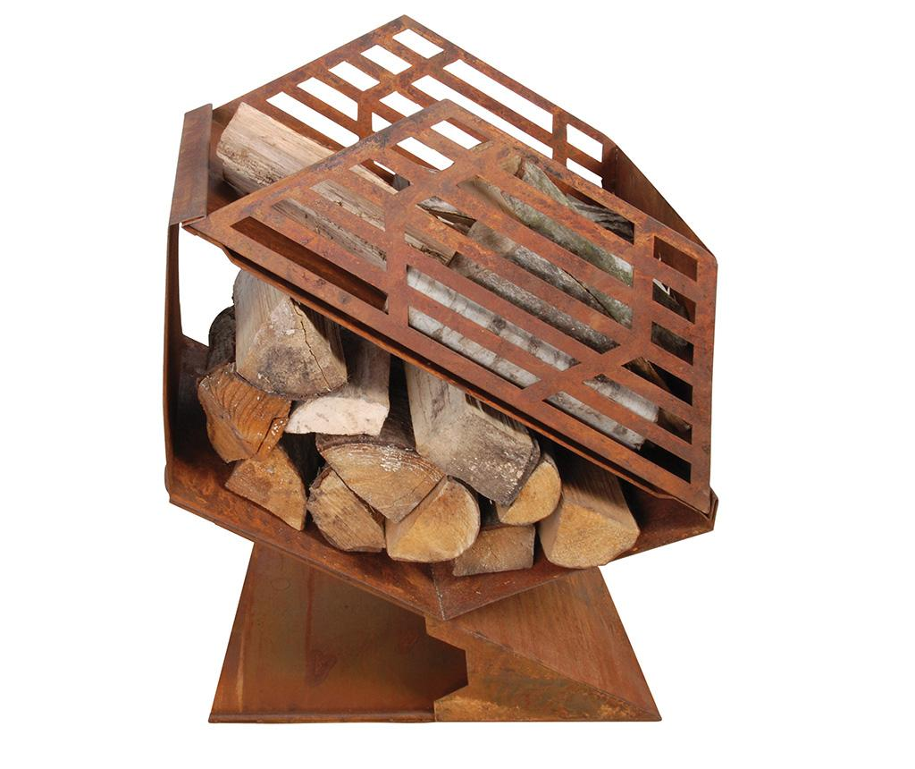 Cos pentru foc Geometric Rust - Esschert Design, Maro