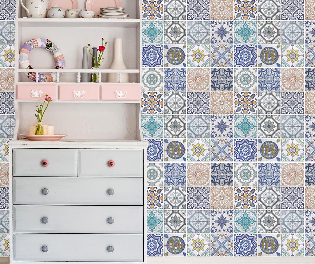 Set 4 stickere Mosaic Tile - Walplus, Albastru