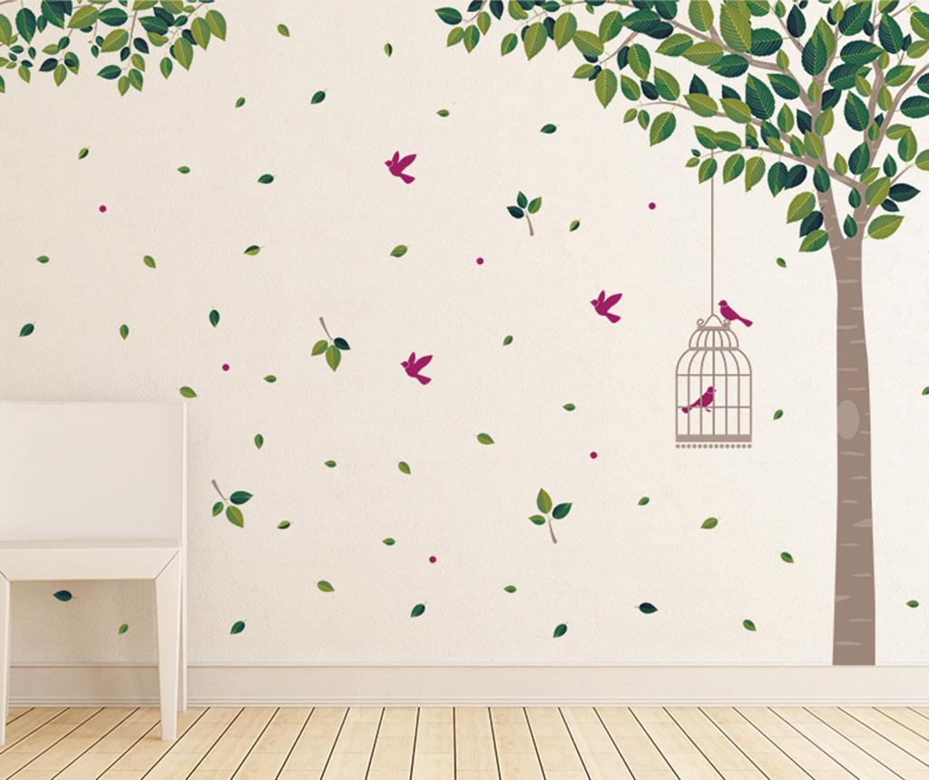Sticker Green Tree - Wallplus, Verde