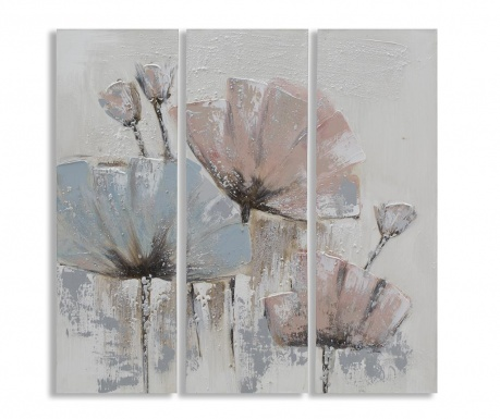 Sada 3 obrazy Perfect Flowers 30x90 cm