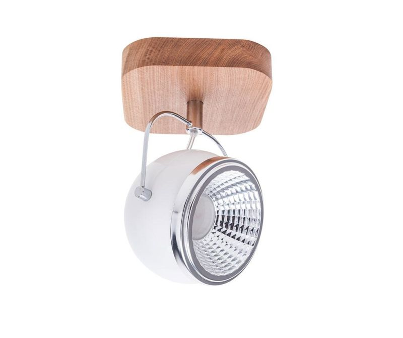 Stropna ili zidna svjetiljka Ball White Natural