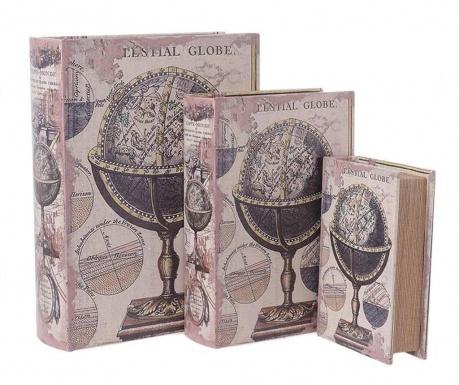 Комплект 3 кутии тип книга Globe