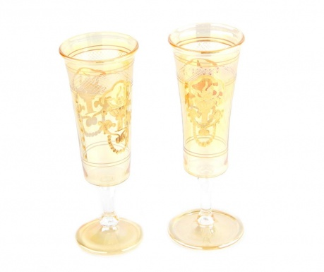 Sada 2 sklenic na šampaňské Amber 300 ml