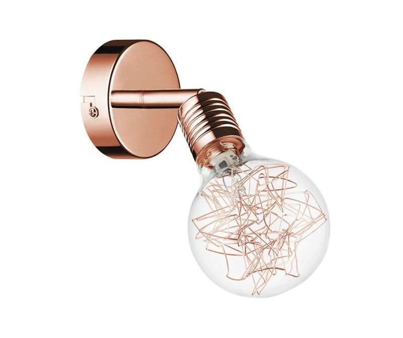 Zidna ili stropna svjetiljka Bulbs Copper  Transparent